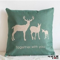 NEW Vintage Cotton Linen Cushion Cover Home Decor Decorative pillow square strip[Green]
